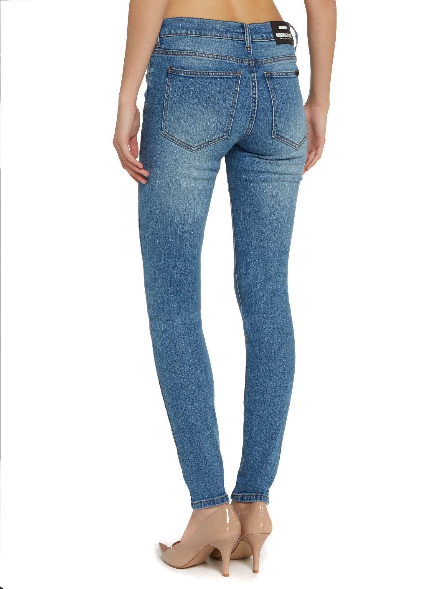 Dr. Denim Regina 5 Pocket Skinny Jeans in Denim Light Wash (Blue)
