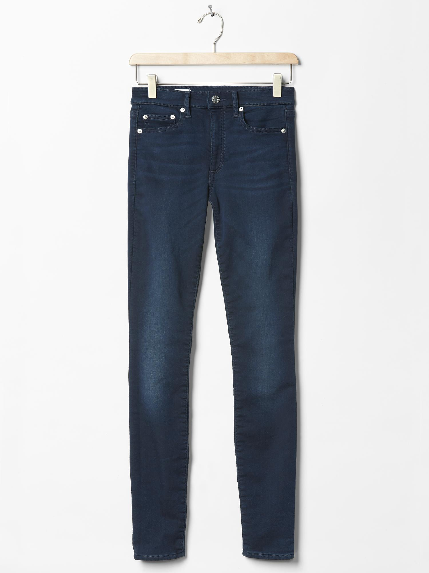gap 1969 knit true skinny jeans in blue  dark indigo