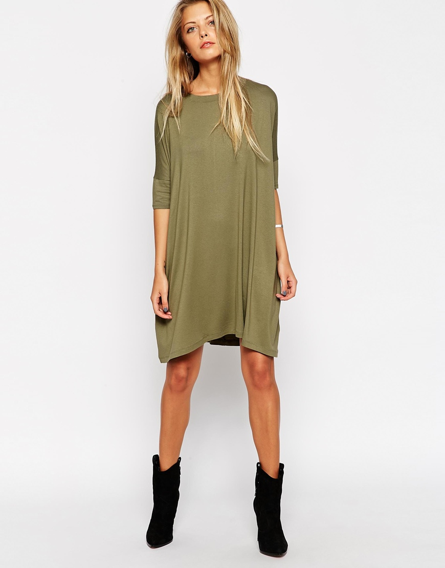 Asos The T-shirt Dress in Green | Lyst