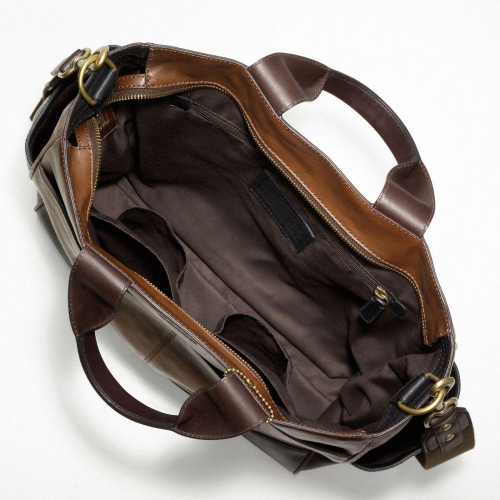 e54038b7e ... cheap lyst coach bleecker leather colorblock utility tote in brown for  men 373c6 f45f5
