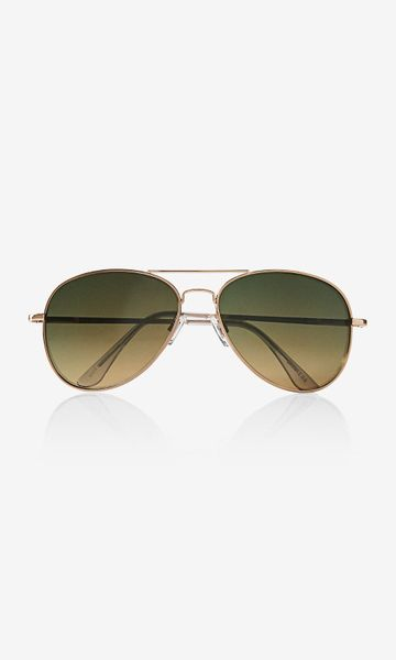 Gold Color Frame Sunglasses : Express Mirror Color Lens Gold Frame Aviator Sunglasses in ...