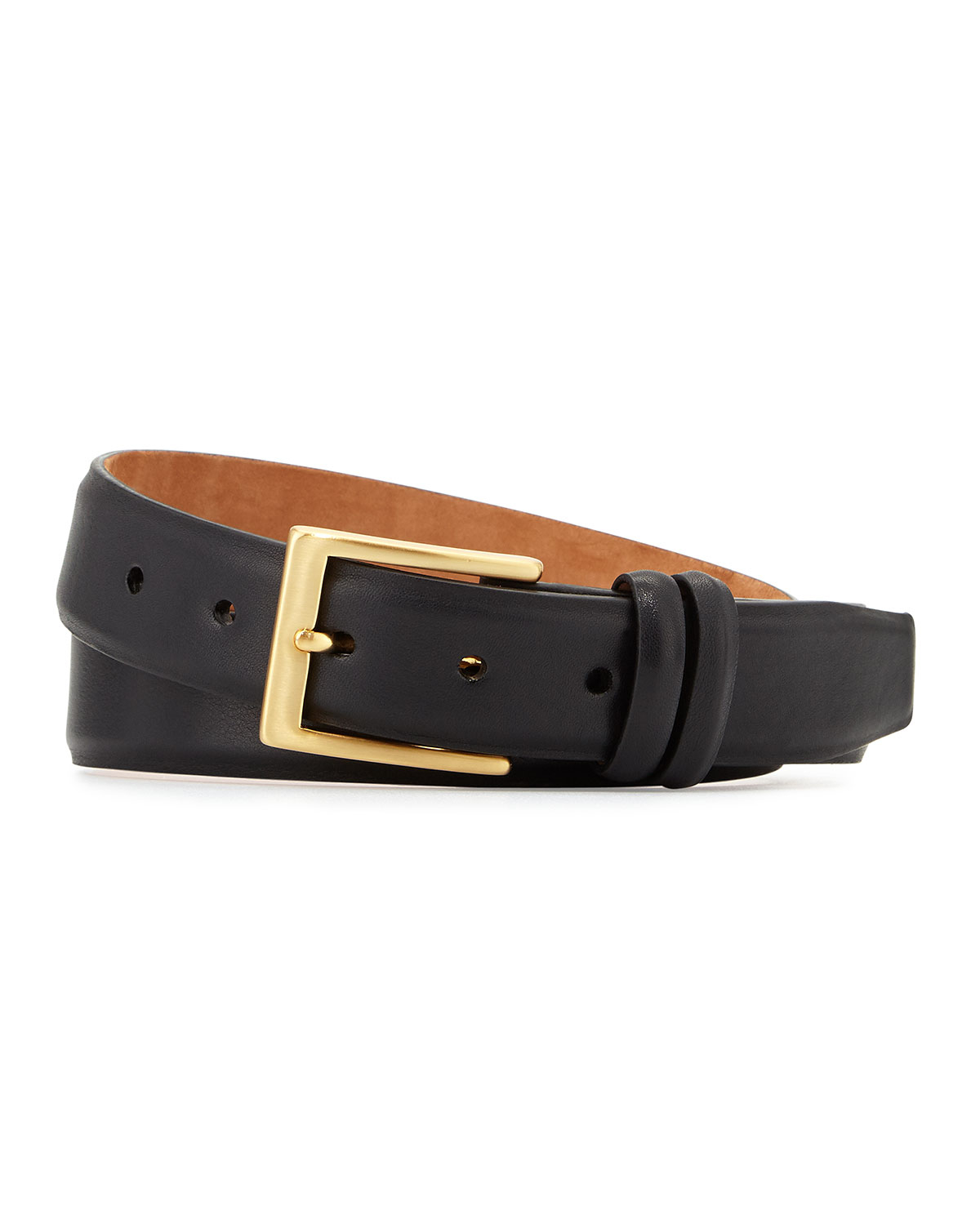 w kleinberg basic leather belt with interchangeable