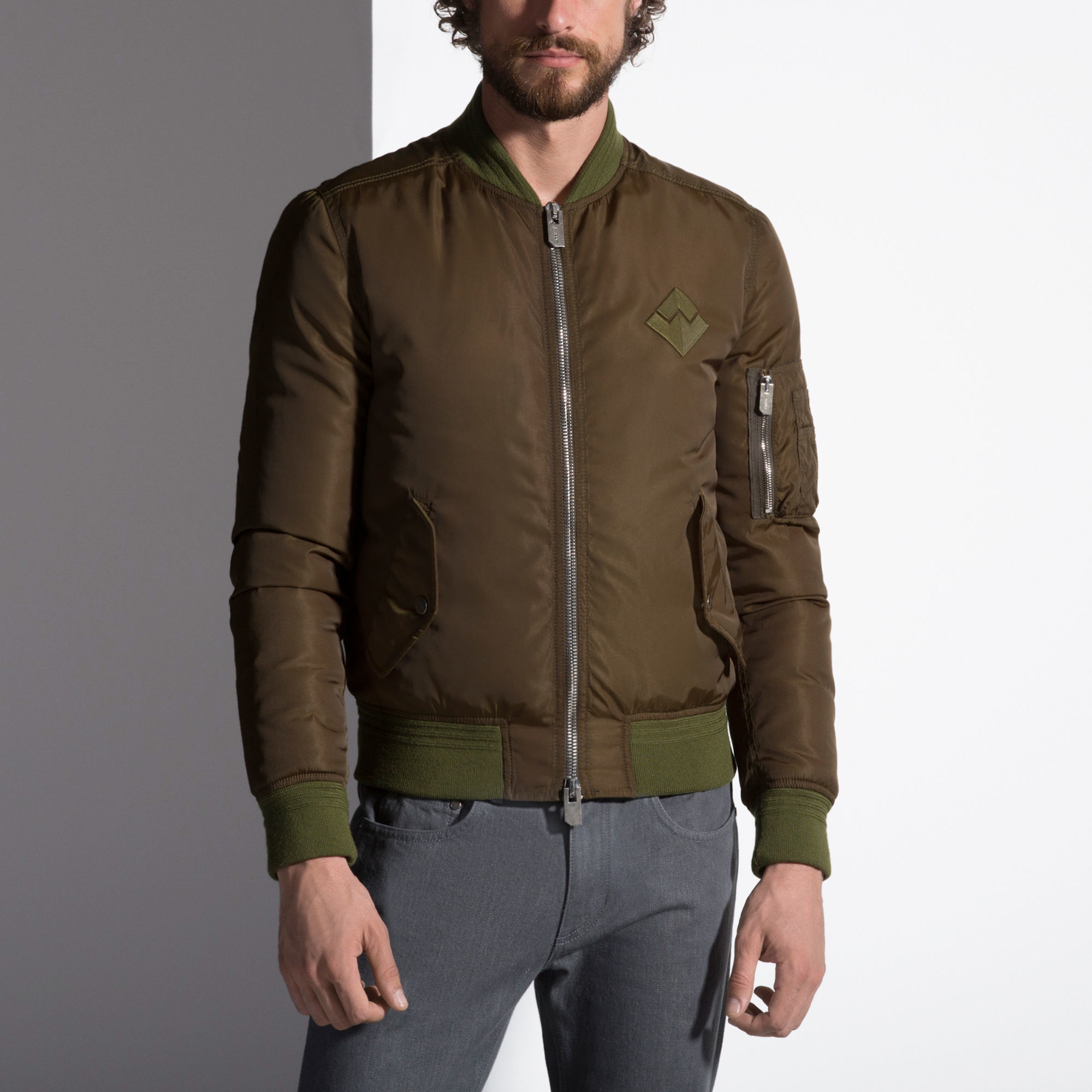 Bally Goose Down Bomber Jacket Men ́s Bomber Jacket In Caper in ...