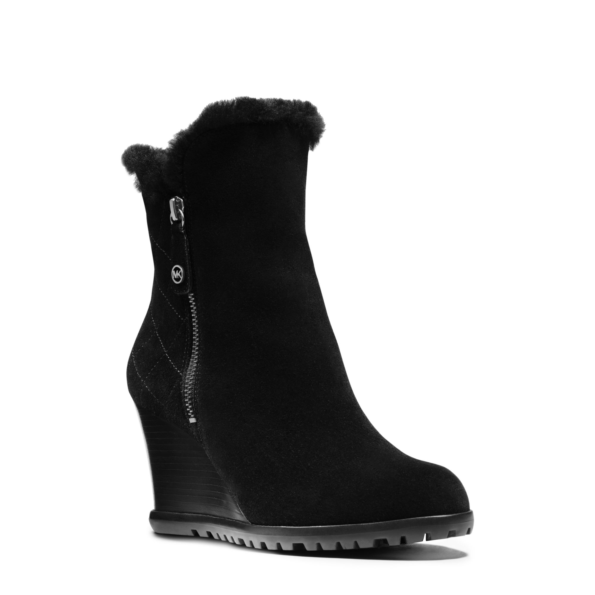 Michael Kors Whitaker Suede Wedge Boot
