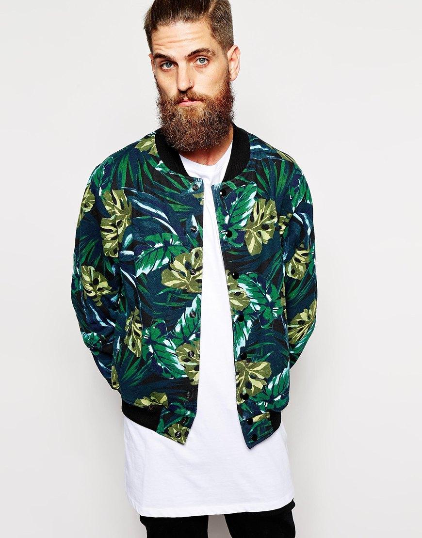Patterned Bomber Jacket Men | Outdoor Jacket