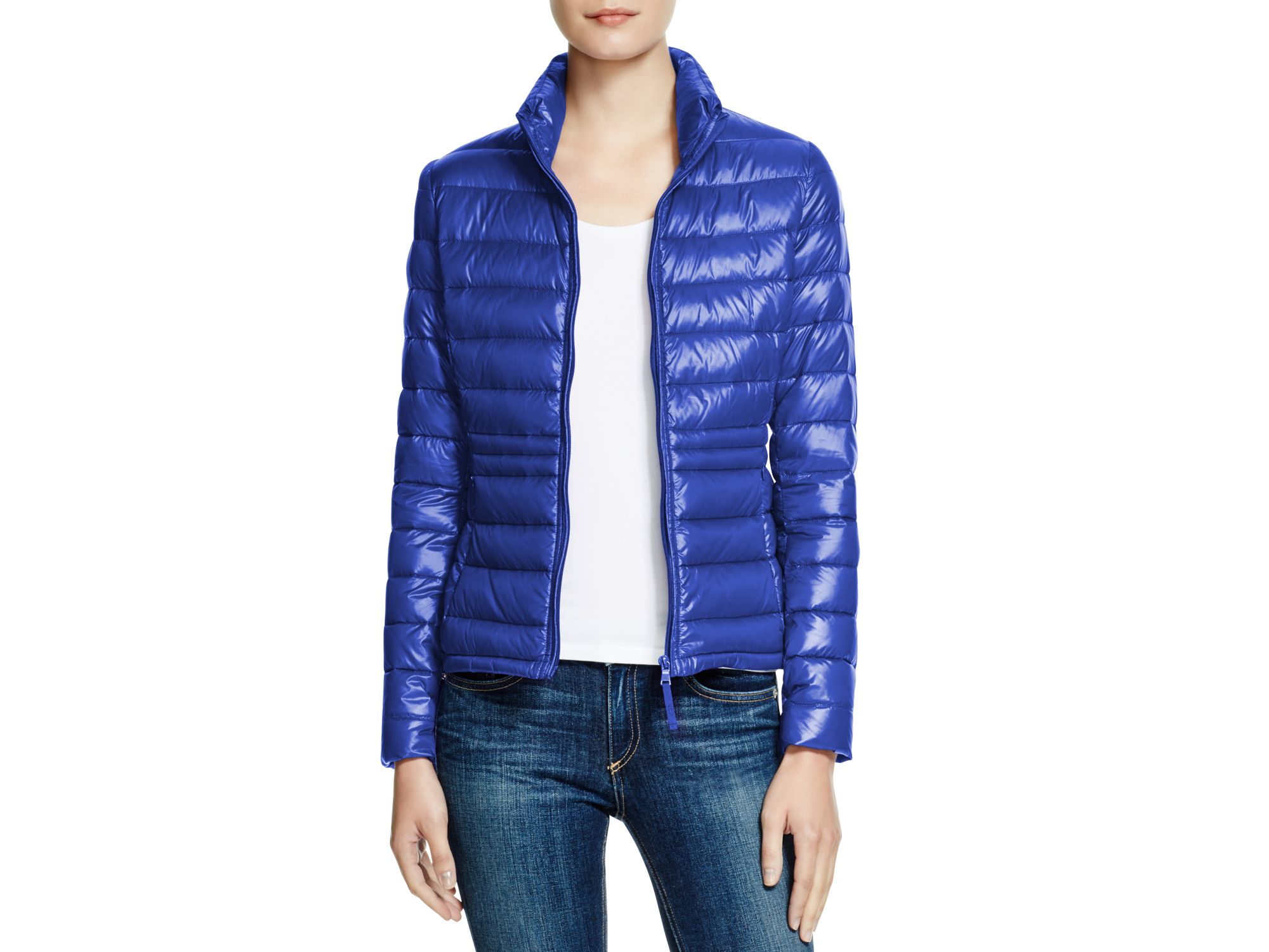 Aqua Packable Down Puffer Jacket In Blue Lyst