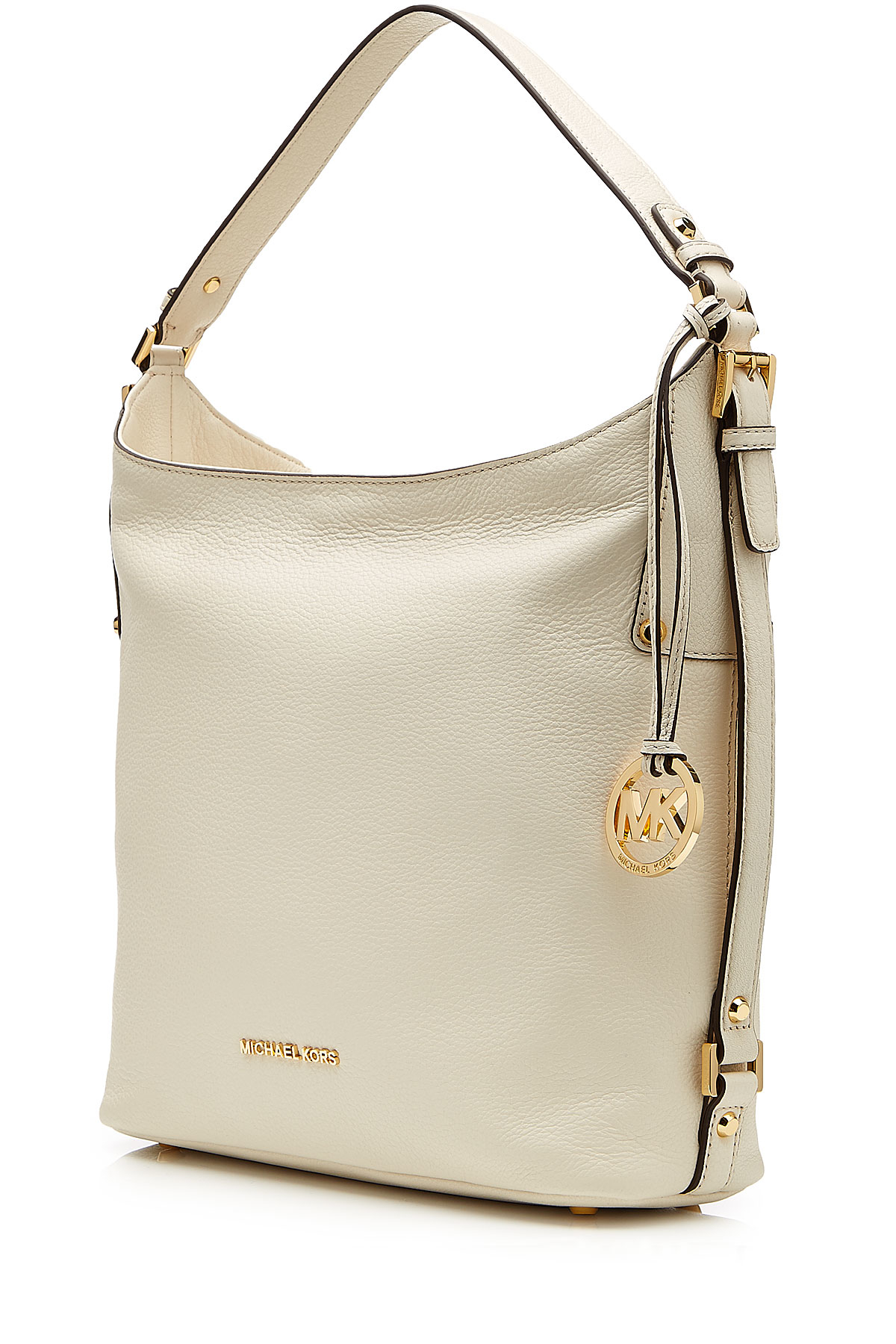 0dad25a55702 ... free shipping lyst michael michael kors bedford large leather shoulder  bag white in natural ee3ec a298f
