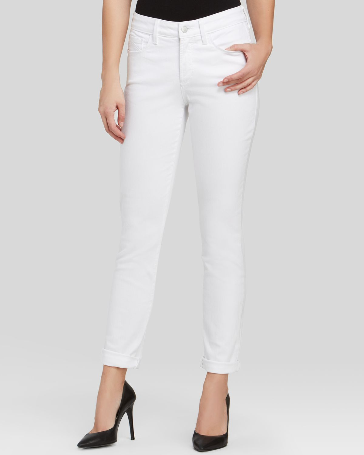 Nydj Alina Legging Jeans In Optic White in White | Lyst