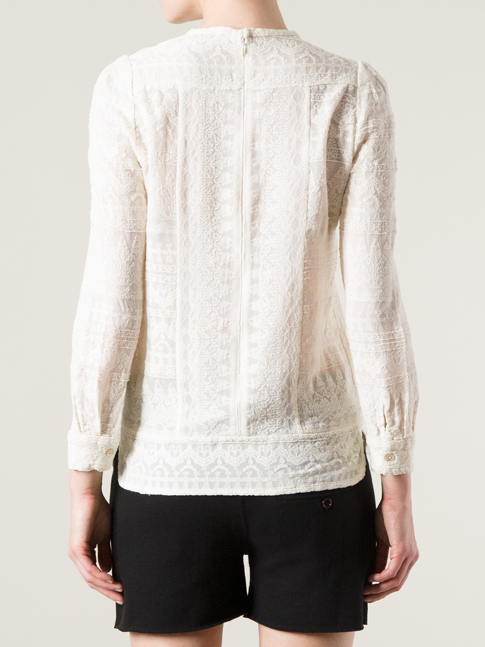 d3d10ffa1b Isabel Marant Tess Lace Top in White - Lyst