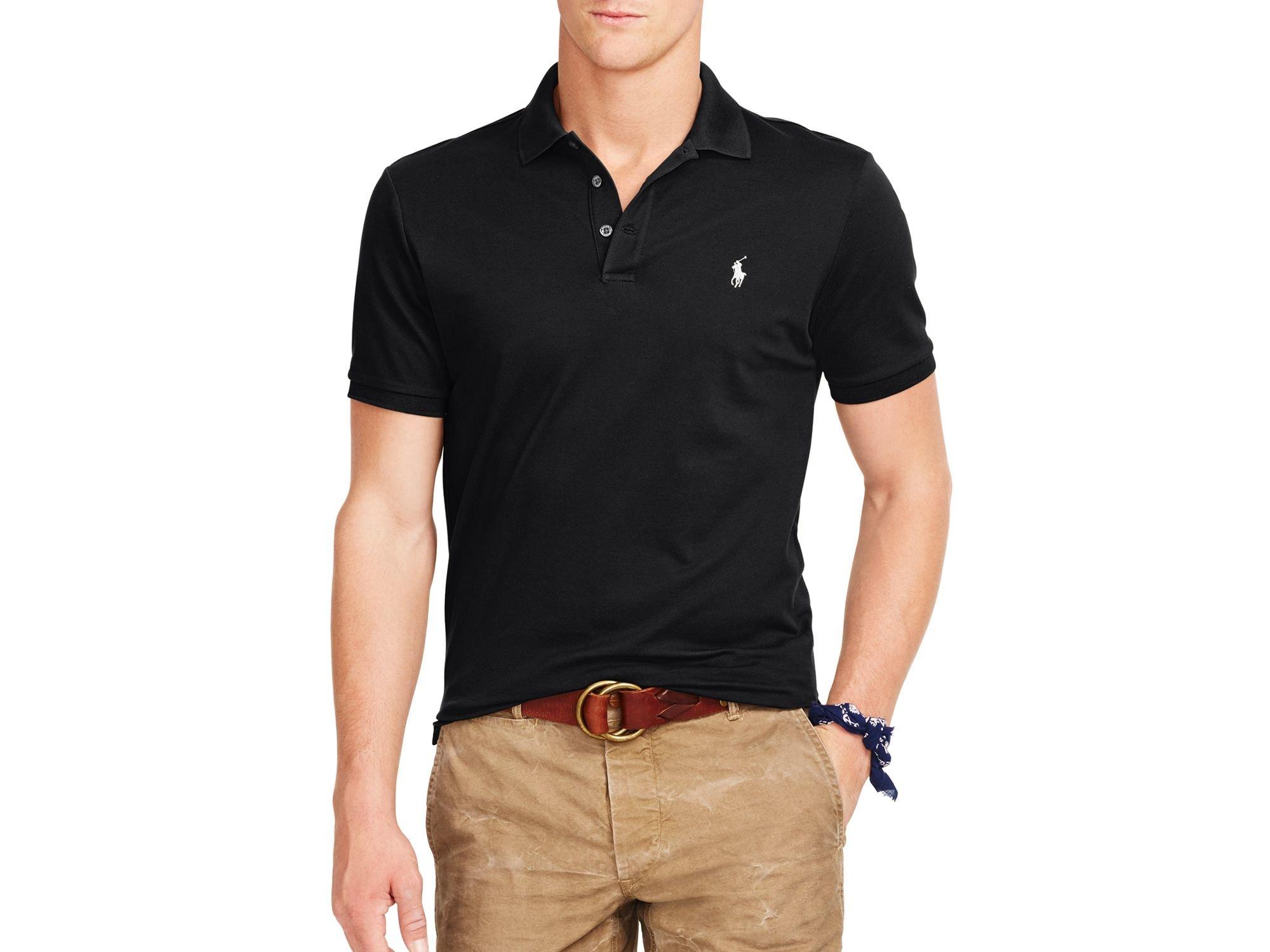 Polo Stretch-mesh Slim Fit Polo Shirt