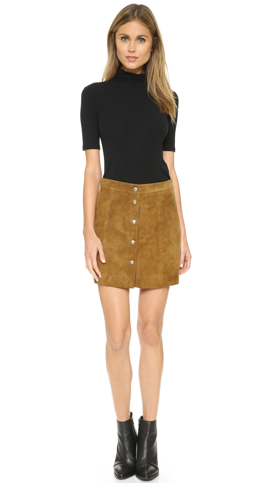 Iro Fellini Suede Skirt - Camel in Natural | Lyst