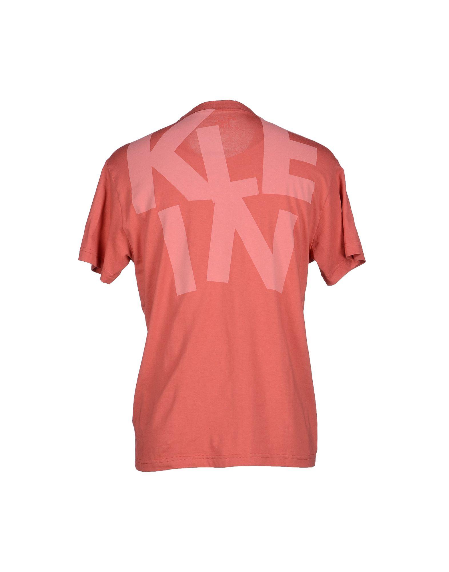 calvin klein jeans t shirt in pink for men lyst. Black Bedroom Furniture Sets. Home Design Ideas