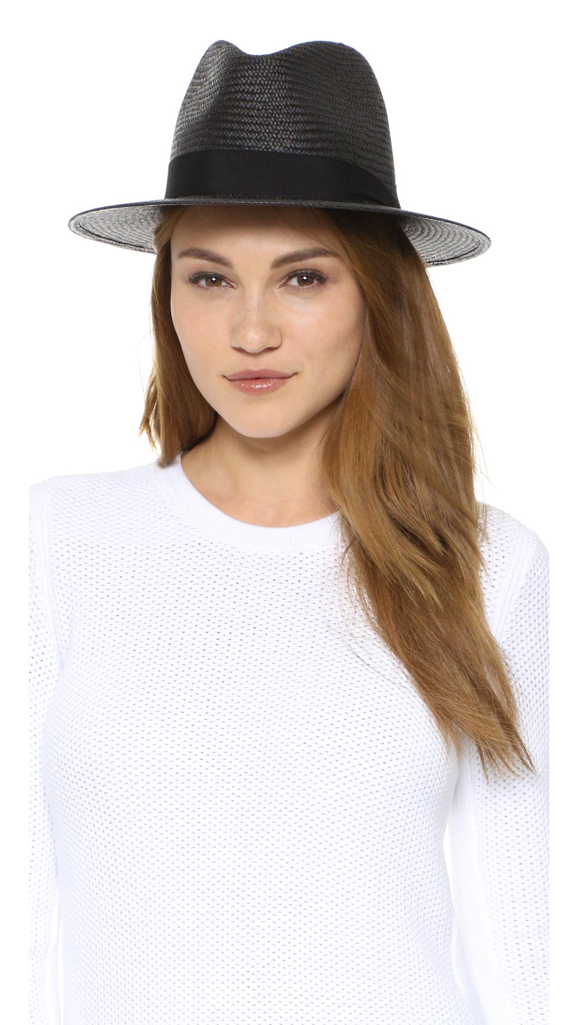 90c836fb2 Rag & Bone Black Panama Hat