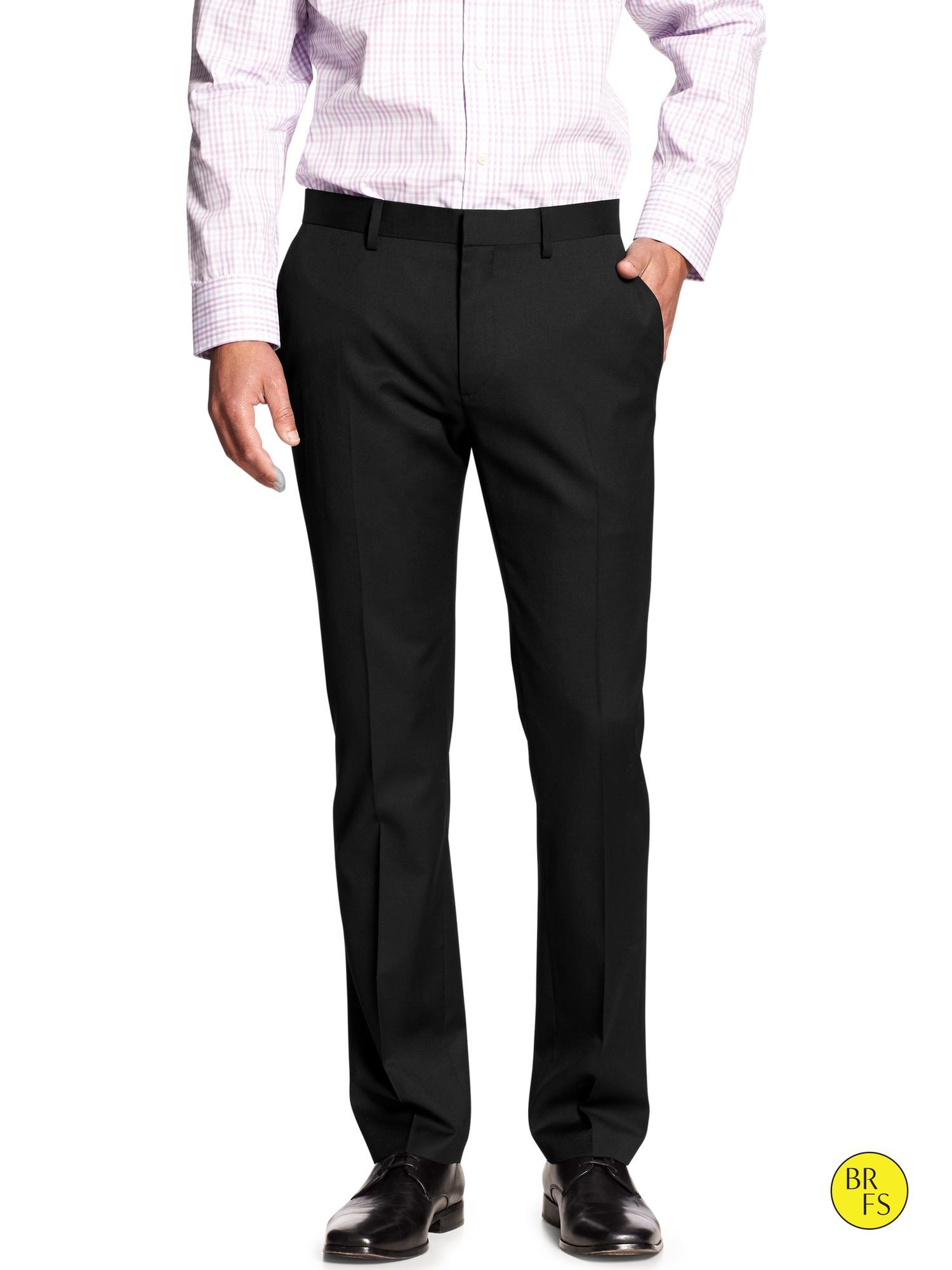 Banana Republic Factory Tailored Slim Fit Pant in Black