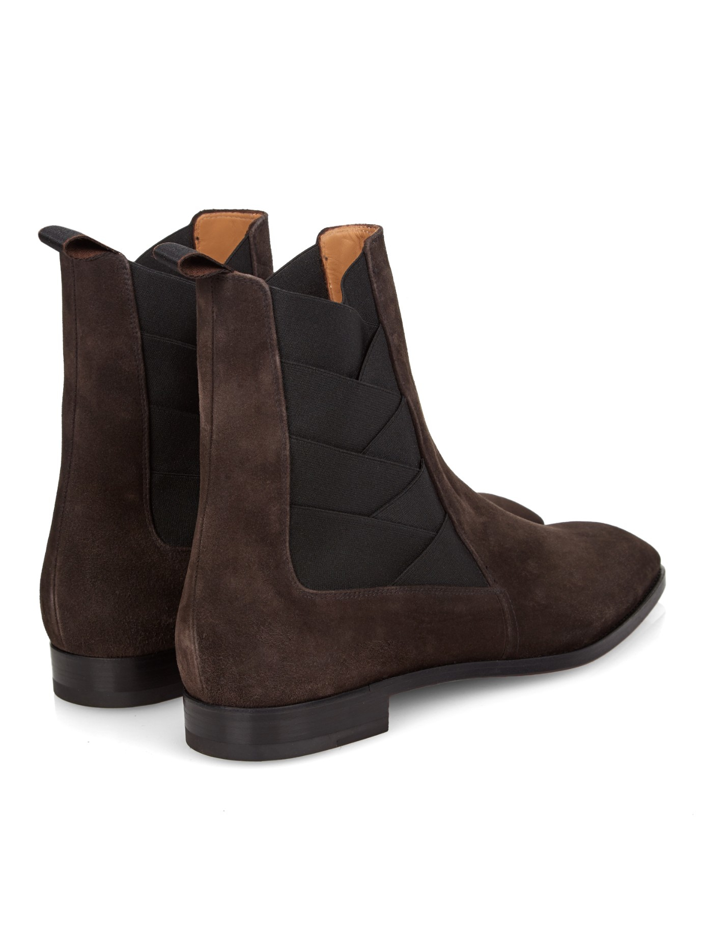 Christian louboutin Brian Suede Ankle Boots in Brown for Men | Lyst