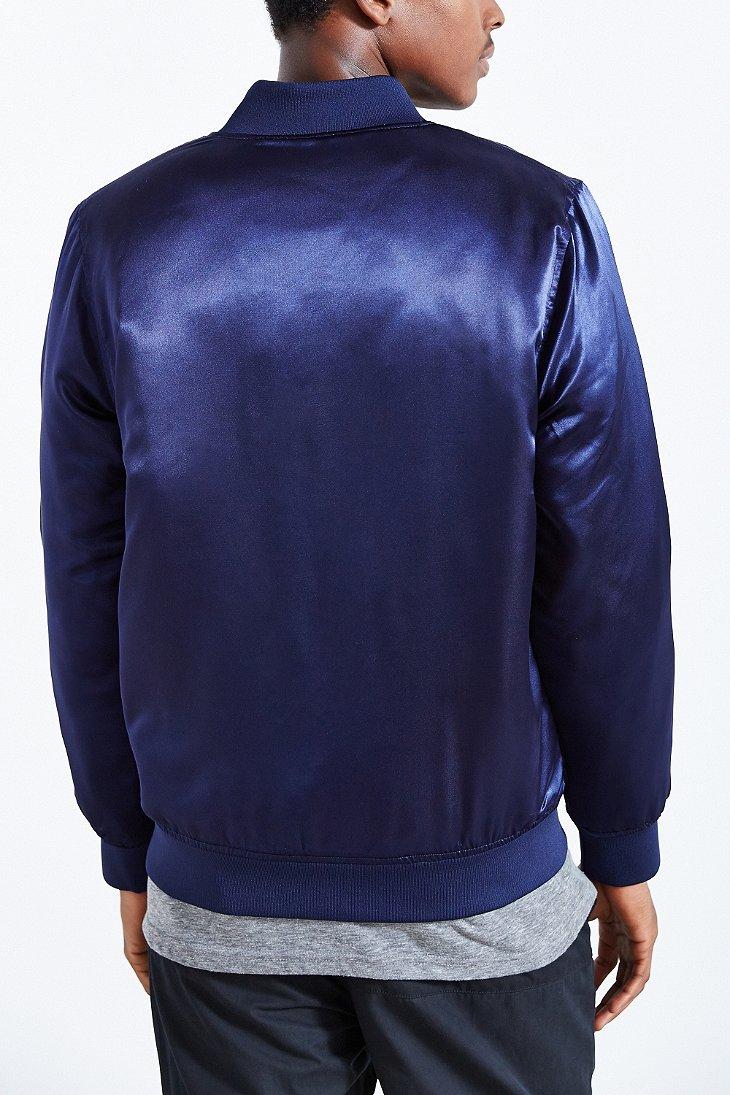 8385e468a3 Stussy Blue Stock Satin Jacket for men