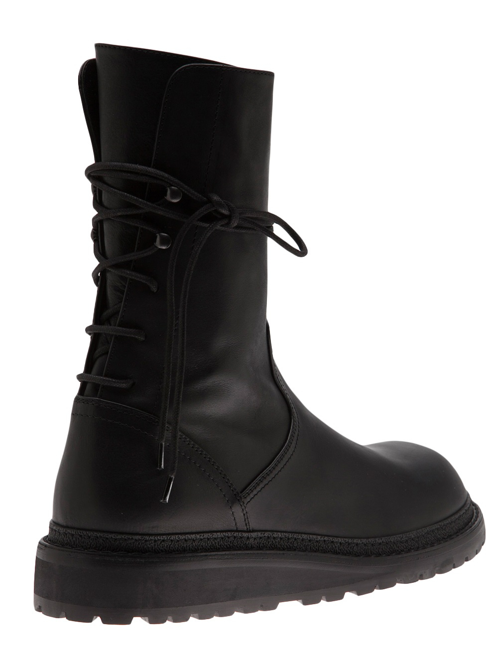 black back lace up boots