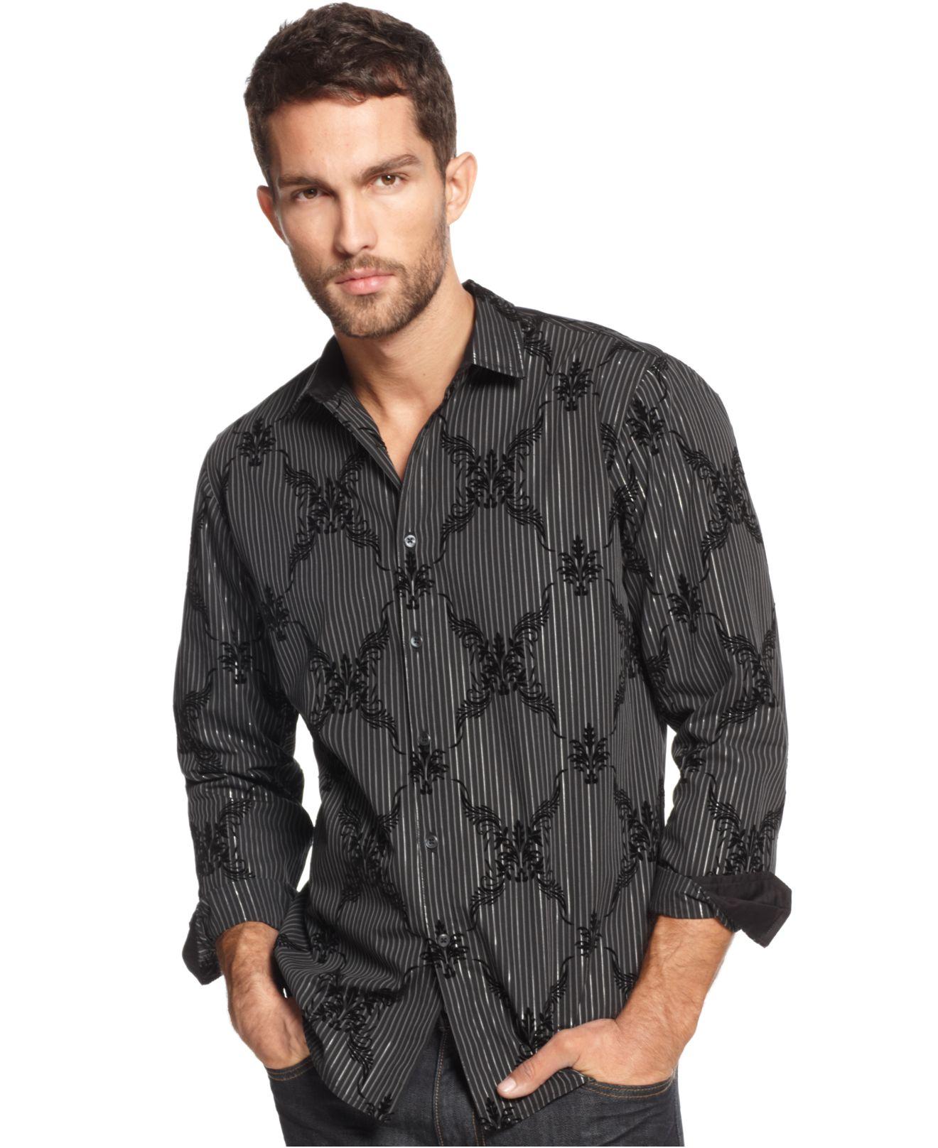Lyst inc international concepts big tall kringle slim for Slim fit tall shirts