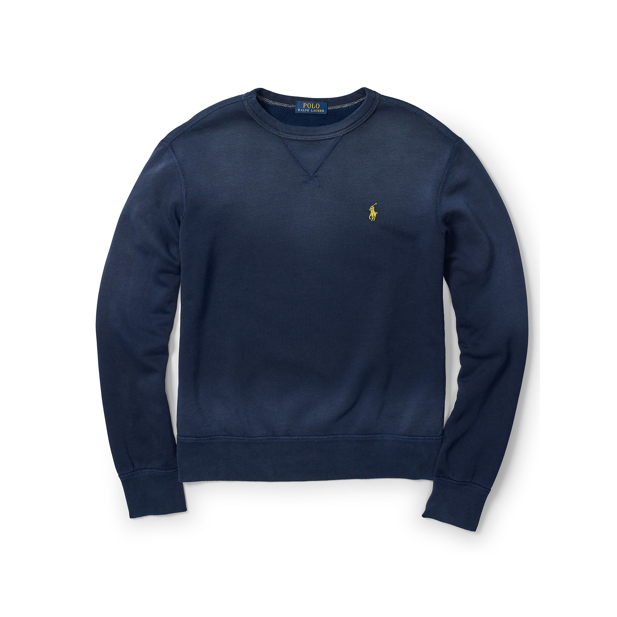 polo ralph lauren cotton blend fleece sweatshirt in blue. Black Bedroom Furniture Sets. Home Design Ideas