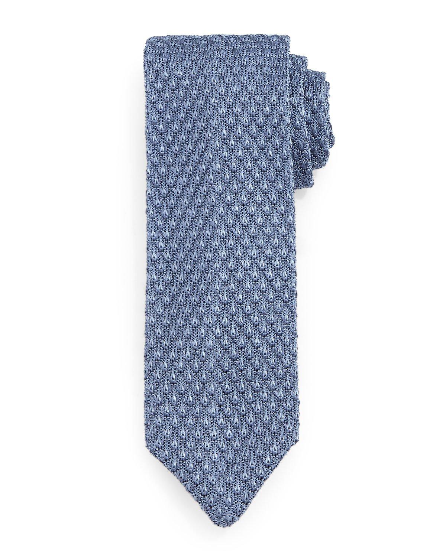Tom Ford Diamond-Pattern Knit Tie in Blue for Men Lyst