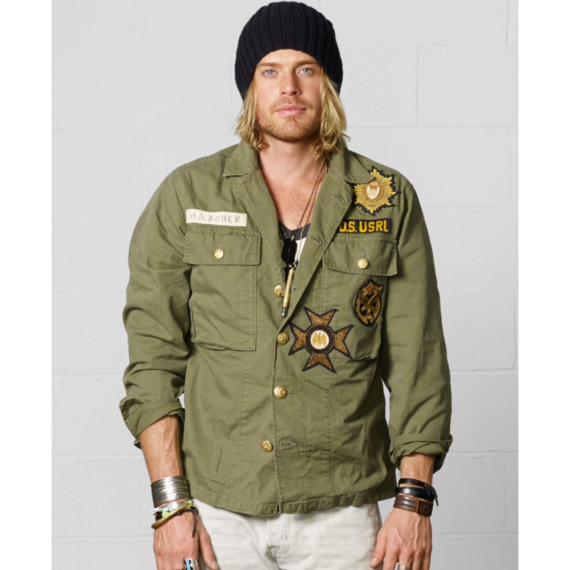 Denim Amp Supply Ralph Lauren Military Shirt Jacket In Green