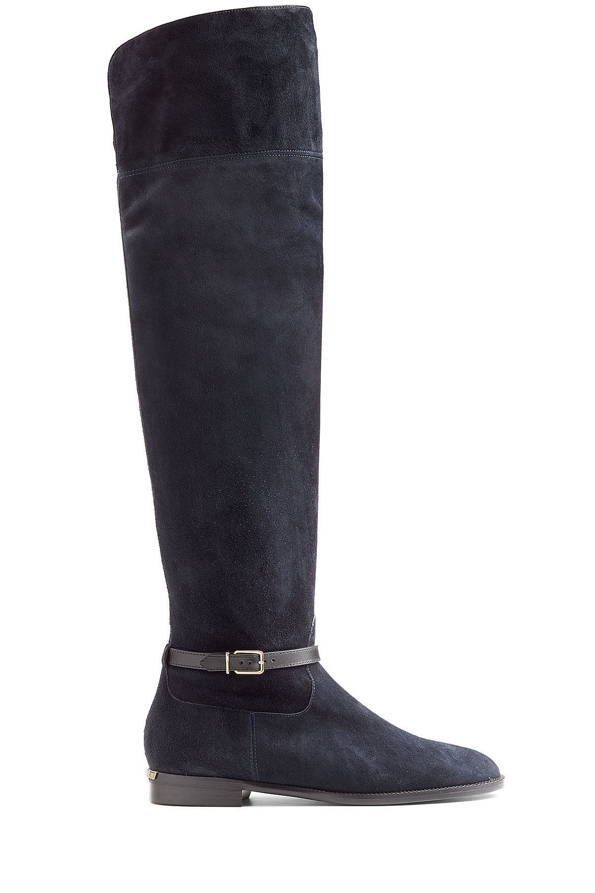 burberry suede the knee boots in black lyst
