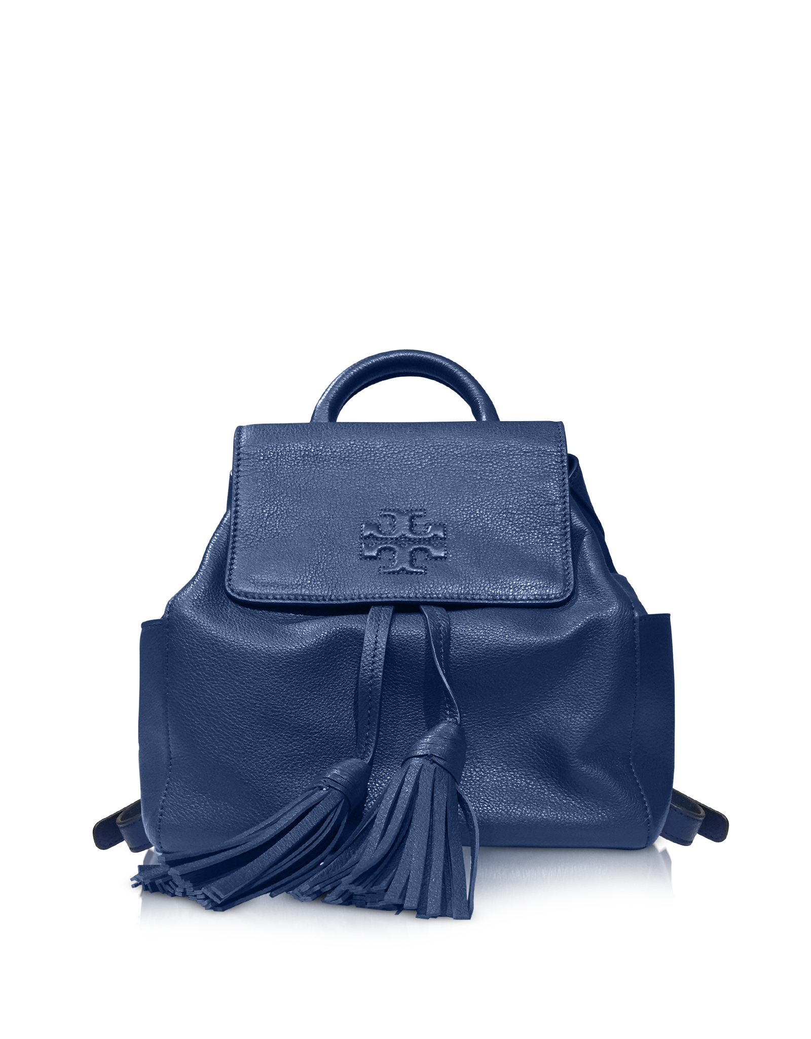 1a403cfa6df Tory Burch Thea Tidal Wave Pebbled Leather Mini Backback in Blue - Lyst