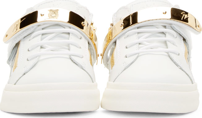 45329162bf701 Giuseppe Zanotti Ssense Exclusive White Leather And Gold Low_top ...