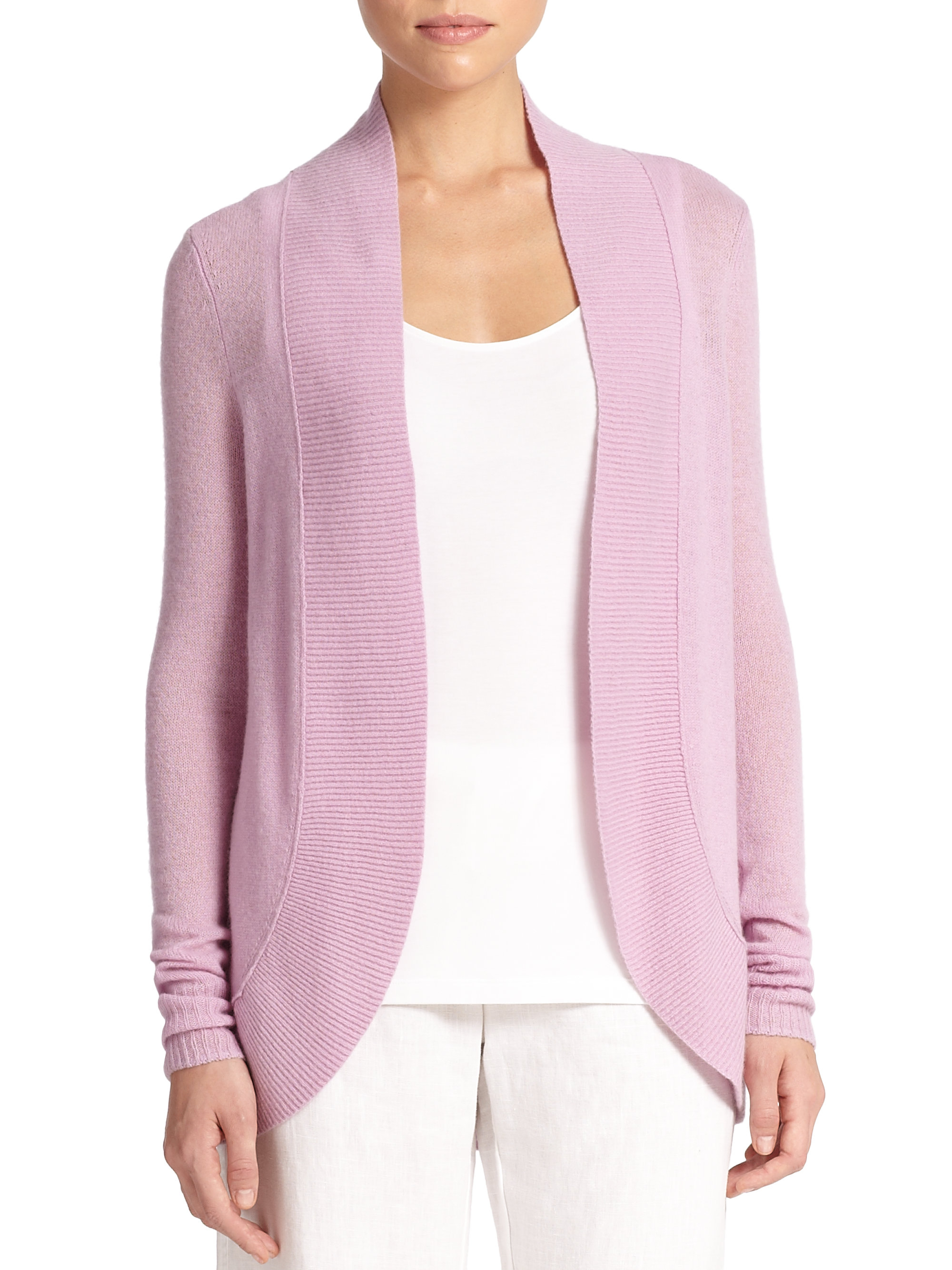 Lilly pulitzer Amalie Cashmere Cardigan in Purple | Lyst