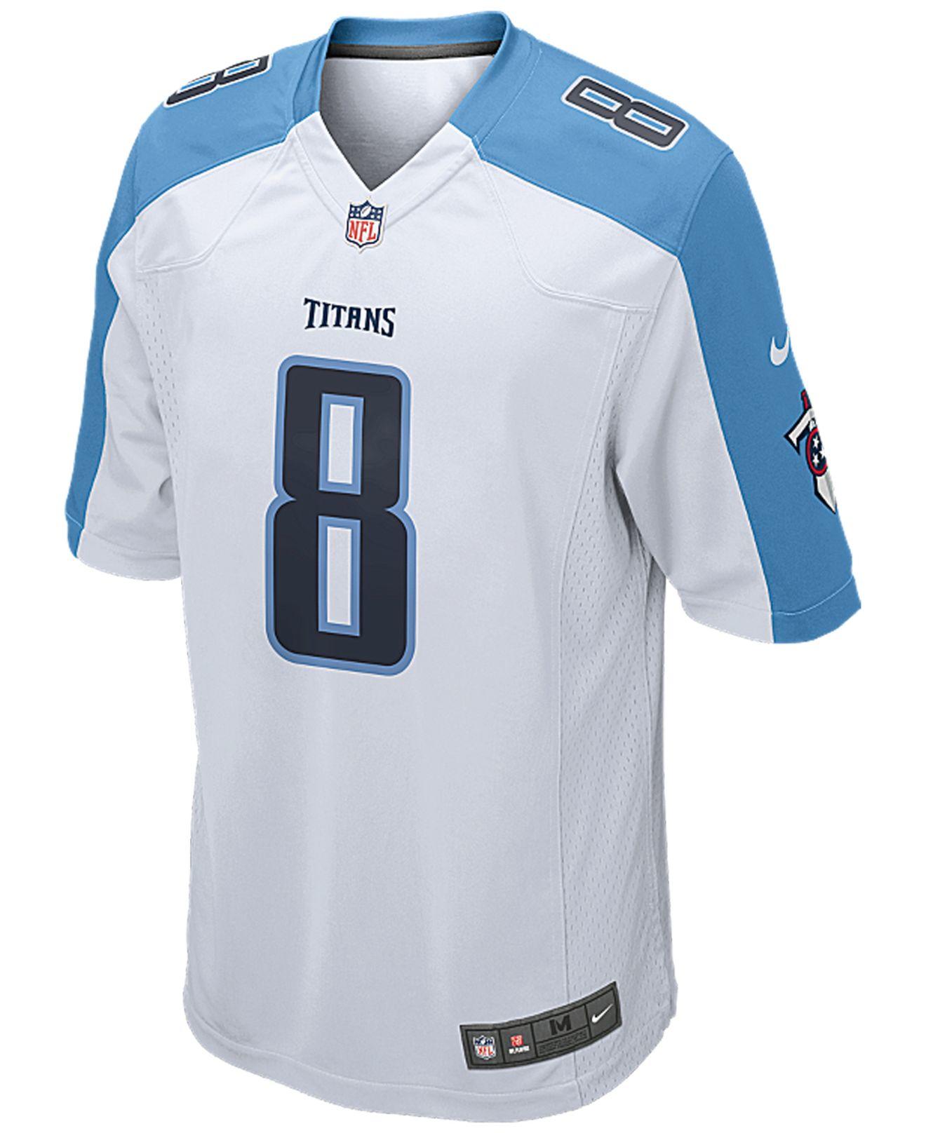 5e3ea55a NFL Jersey's Women's Tennessee Titans Marcus Mariota Nike White 2015 ...