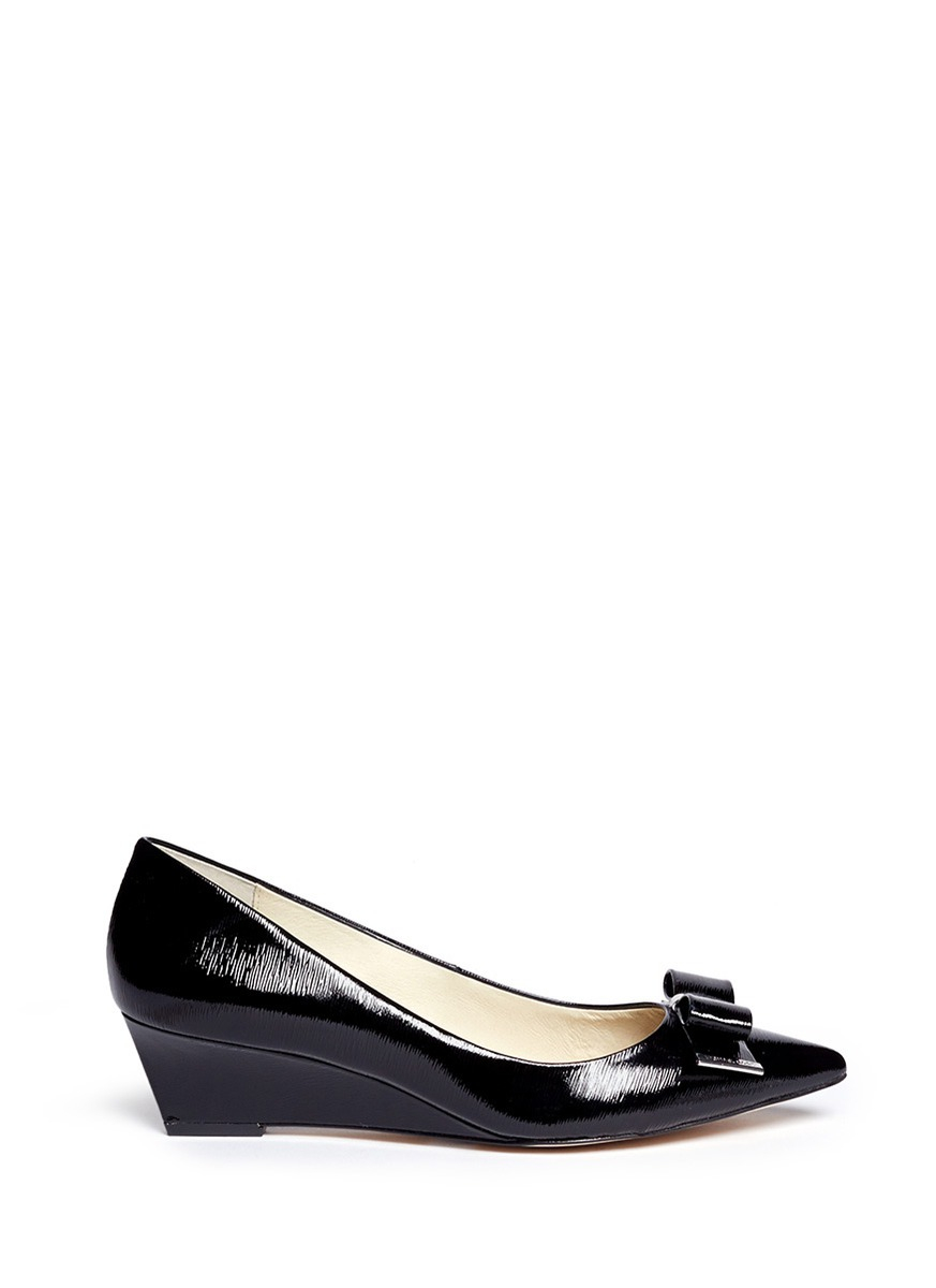 Michael Kors Patent Leather Wedge Shoes