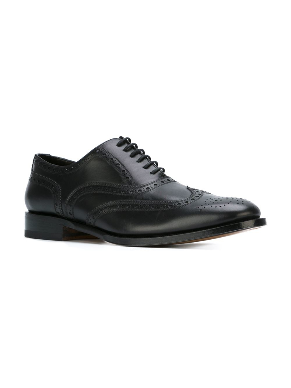 dsquared 178 classic brogue shoes in black for