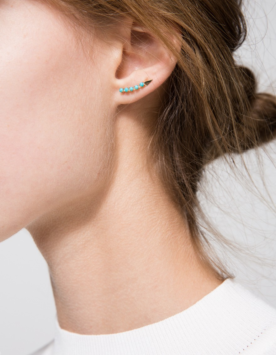 Loren Stewart Diamond & rose-gold single earring GNeLvrE3O