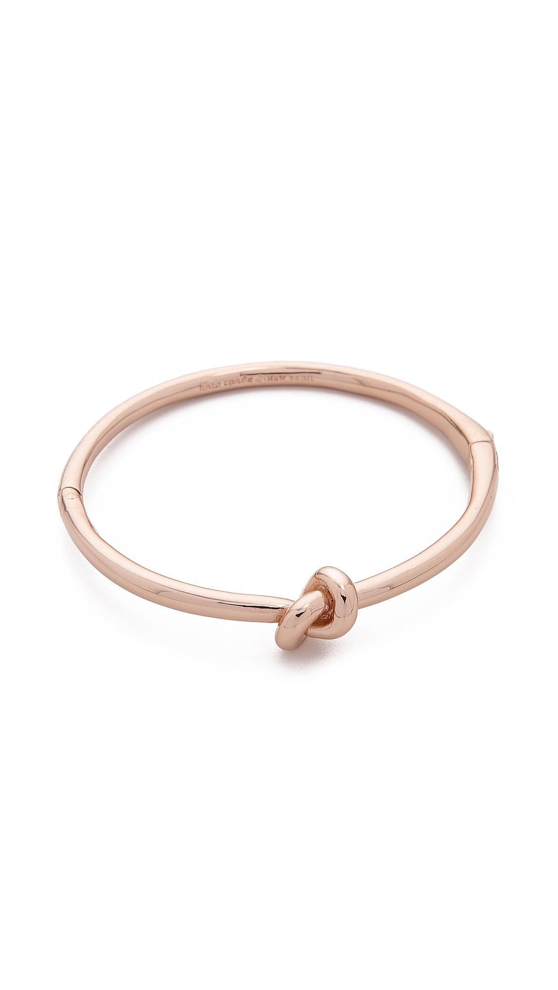 Kate Spade Sailor S Knot Bangle Bracelet Rose Gold In