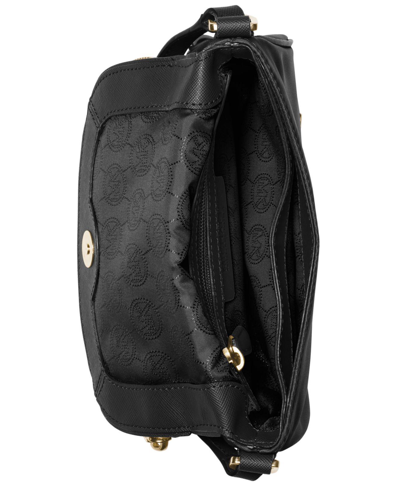 4928208b7c0c Lyst - Michael Kors Michael Bedford Nylon Flap Crossbody in Black