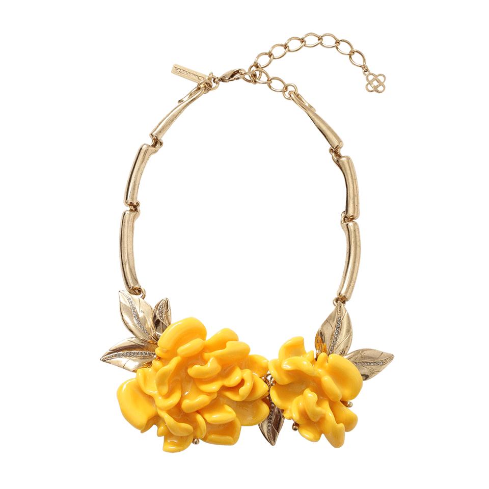 Wild flower necklace - Yellow & Orange Oscar De La Renta tLTFz
