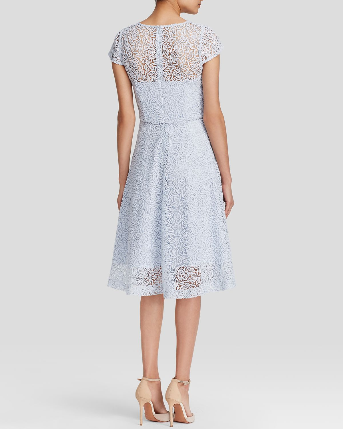 White Rhomona Floral Lace Dress Bloomingdale 39 S Exclusive Lyst