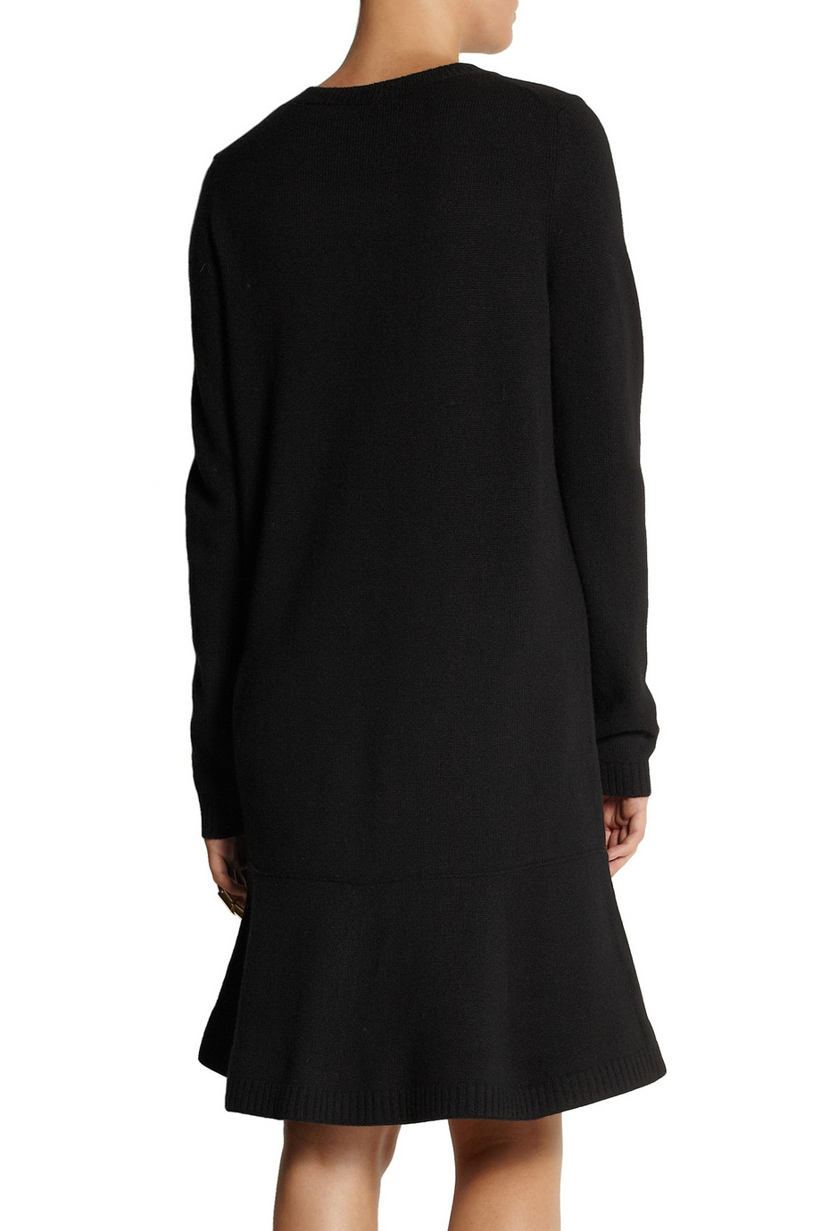 Miu Miu Wool Sweater Dress In Black Lyst