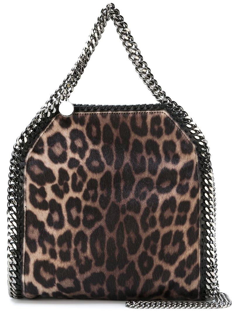 Stella McCartney Leather 'falabella' Tote in Taupe (Brown)