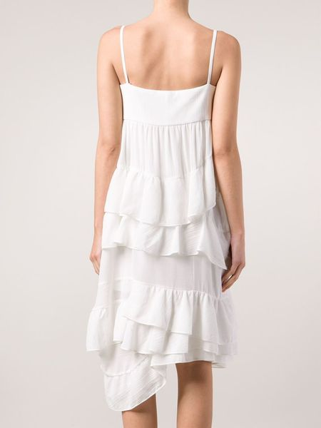 le bon marche x the webster chlo 233 ruffled dress in white