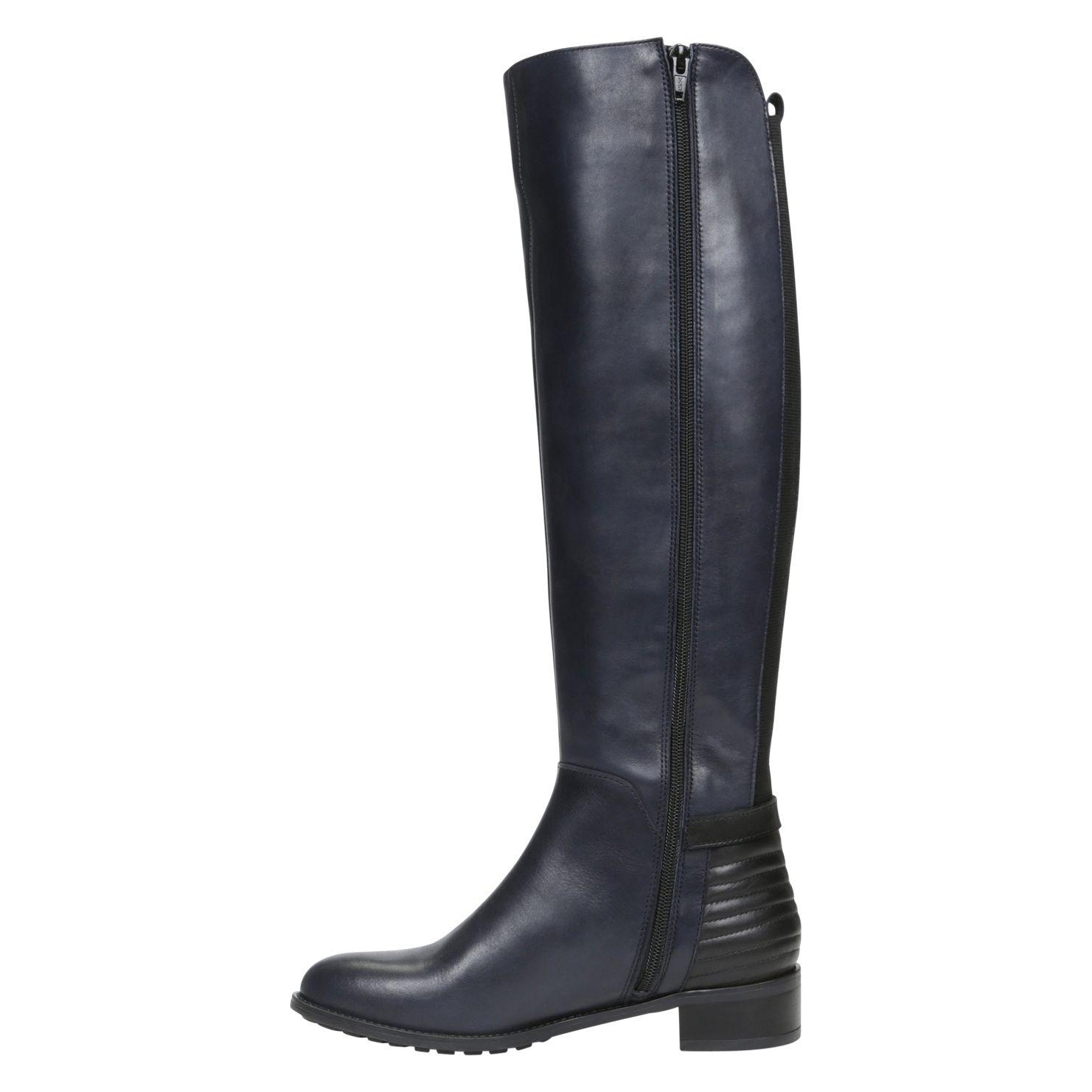 aldo nonela block heel knee high boots in black lyst
