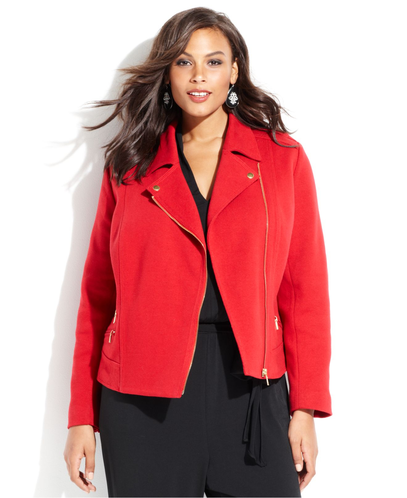 Shop Lane Bryant's collection of fashionable women's plus size coats, jackets and blazers in sizes