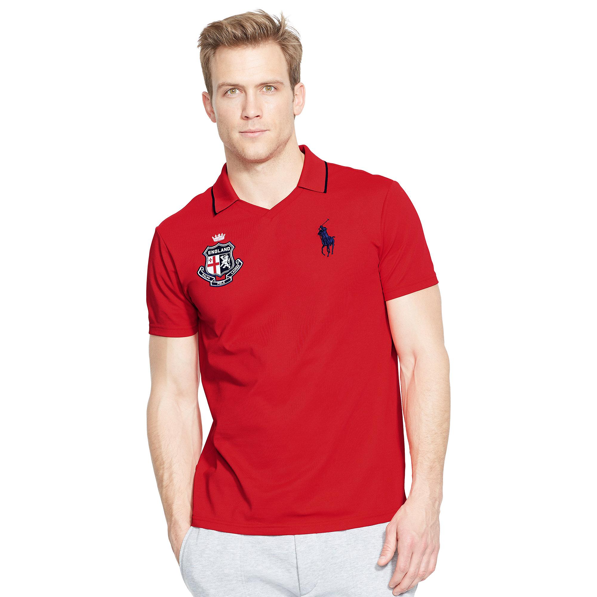Lyst Ralph Lauren England Polo Shirt In Red For Men