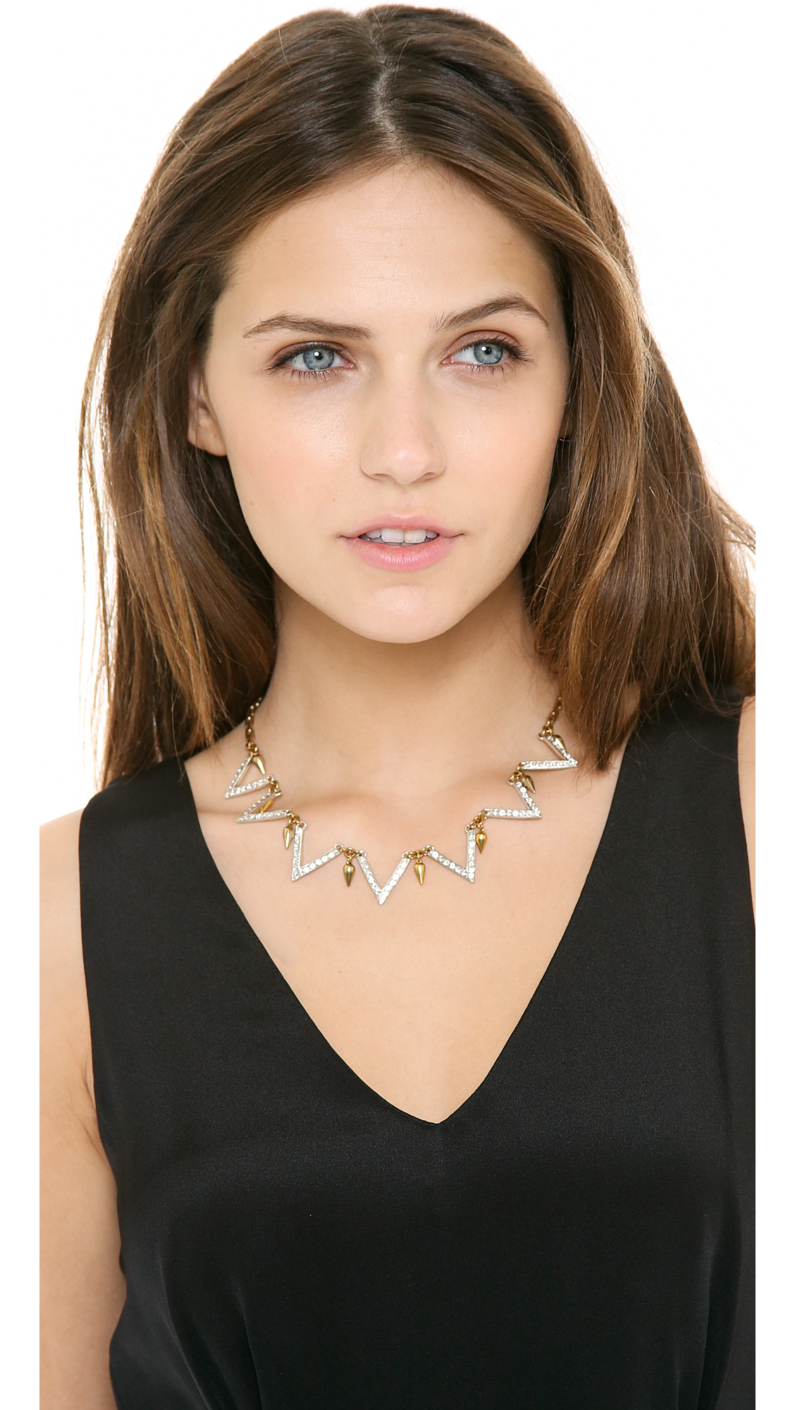 Lulu Frost Guillotine Necklace in Metallic