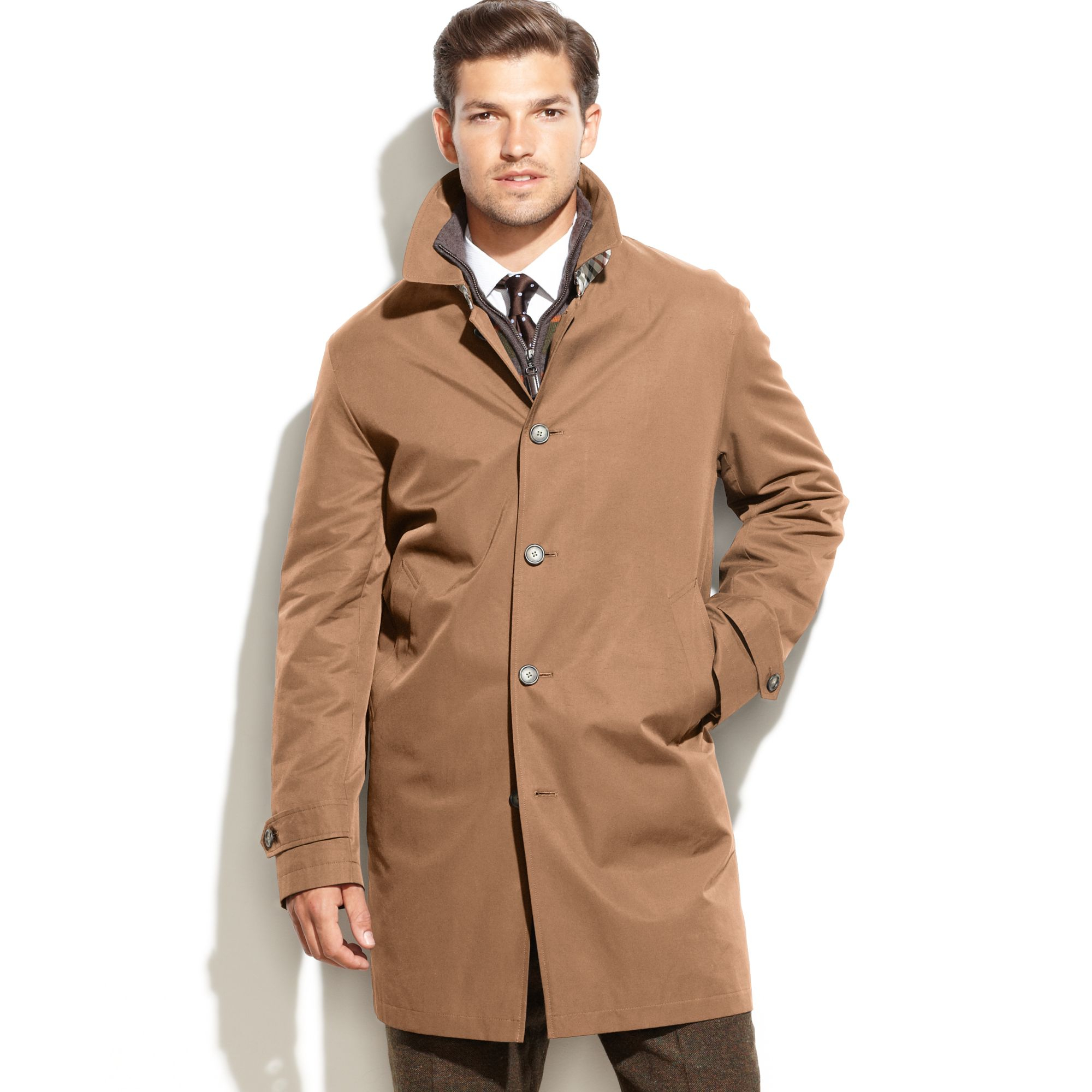 Tommy Hilfiger Lann Raincoat In Tan Brown For Men Lyst