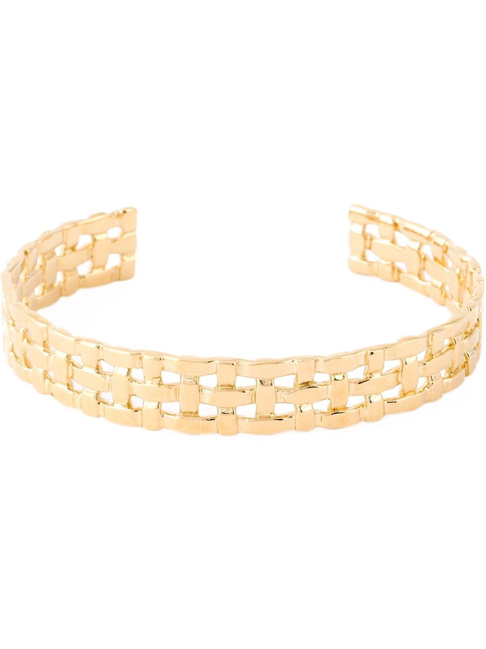 Aurelie Bidermann 18kt Gold Plated Marella Bracelet In. Kunzite Gemstone. Cone Pendant. Eternity Engagement Band. Stainless Steel Jewelry. Mini Stud Earrings. 14kt Chains. Storing Beads. Military Bands