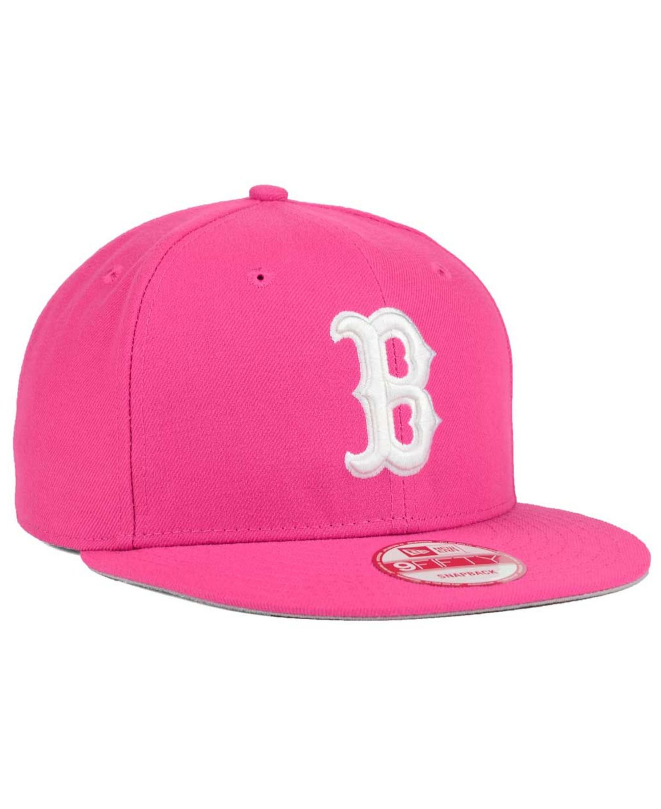 purchase cheap 9dfd4 fb9c6 ... czech lyst ktz boston red sox c dub 9fifty snapback cap in pink for men  ff60e ...