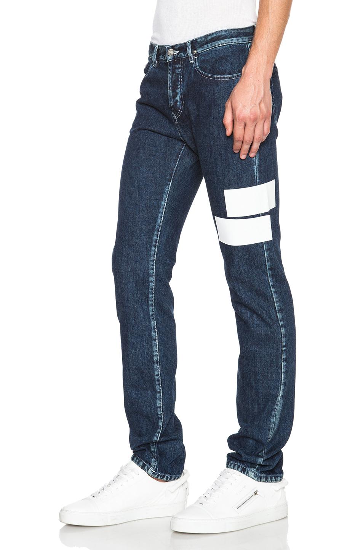 kenzo men 39 s slim fit jeans with paneling in blue for men. Black Bedroom Furniture Sets. Home Design Ideas