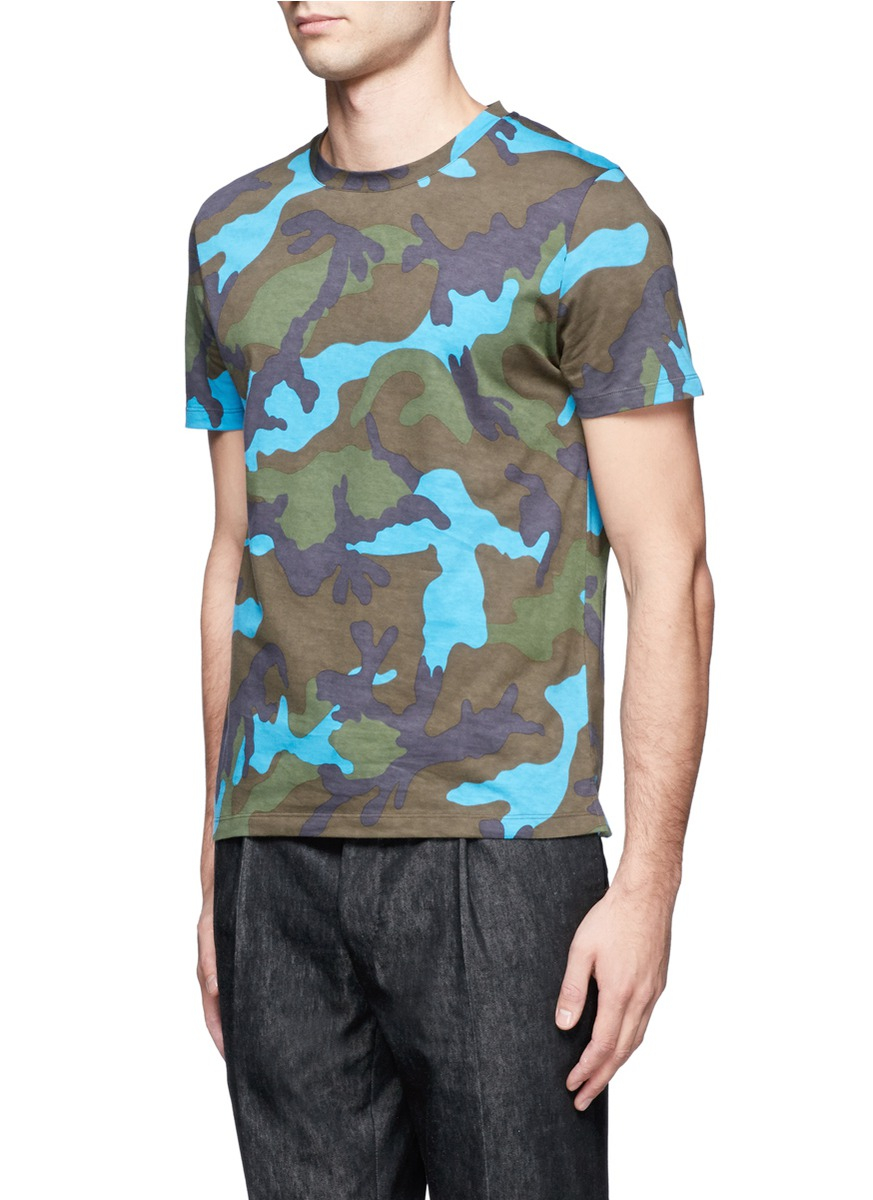 Outlet Perfect Studded camouflage-print cotton T-shirt Valentino Big Sale For Sale For Cheap Sale Sale Online KJZG3FtC