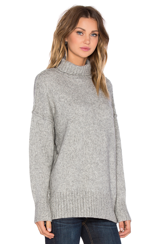 Lyst Nlst Oversized Turtleneck Sweater In Gray